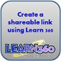 icon to create shareable link using Learn 360