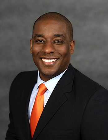 Head and shoulders portrait of Principal Washington.